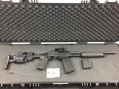 """Check out our newest product, the A*B Arms MOD*X 7600 Tactical System! The tactical butt stock system works on a variety of Remington pump-action rifles (7615, 7400, 760 and the 870-20 gauge shotgun). Image courtesy of our friends """"Down Under""""!"""
