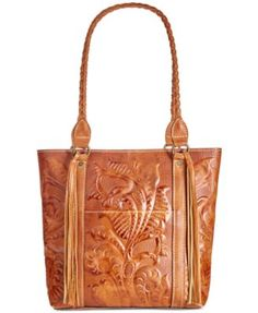 6b0724c50bcef Rena Burnished Tooled Leather Tote