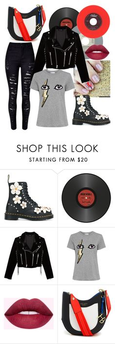 """""""ripped jeans #2"""" by justjess1990 ❤ liked on Polyvore featuring Dr. Martens, The Kooples, RED Valentino and Henri Bendel"""