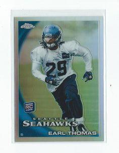 2010 Topps Chrome #C135 Earl Thomas Rookie Seahawks mint from pack #ToppsChrome #SeattleSeahawks