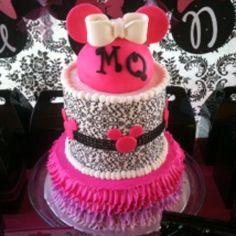 Fancy Minnie Mouse Birthday Cake
