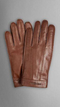 Brown Leather Gloves by Burberry. Buy for $425 from Burberry