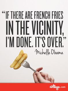 First lady... she's just like us! #Frenchfries    Go behind the scenes with Michelle Obama.