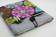 iPad Case, iPad Sleeve, iPad Cover, PADDED, with pockets for iPhone - Colorful Floral Patterns
