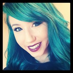 Kalel, with her old hair color