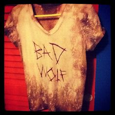 """Bleaching + A little bit of permanent marker = Awesome """"Doctor Who"""" shirt! Made by me!"""