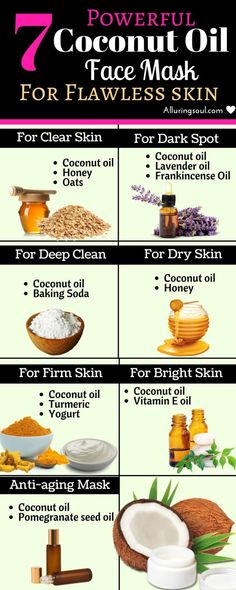 powerful coconut oil face mask for flawless skin