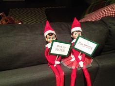Then there were two (2013) Elf on the Shelf ideas