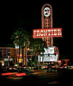 The New Frontier Casino sign in Las Vegas