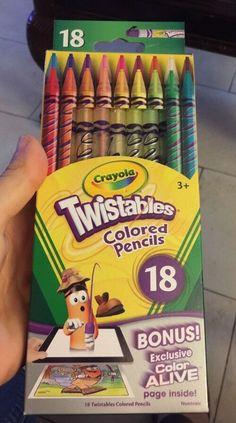 [Crayola] 18ct Twistables Colored Pencils Bonus Exclusive Color Alive (87418)  | eBay