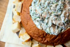 Tailgate Game Day Spinach Artichoke Dip - serve hot or cold