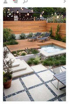 28 small garden design for small backyard ideas 00022 Small Backyard Landscaping, Backyard Patio, Landscaping Ideas, Patio Ideas, Backyard Ideas, Backyard Designs, Modern Garden Design, Landscape Design, Small Garden Table