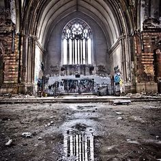 Great abandoned church in Detroit.
