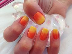 Orange and yellow shellac and additive ombré