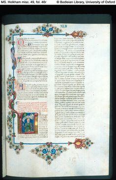 MS. Holkham misc. 49  Boccaccio, Decameron, in Italian  Italy, Ferrara; c. 1467  illuminated by Taddeo Crivelli for Teofilo Calcagnini