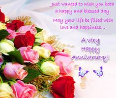Wish a couple on their #anniversary with this beautiful flowers #ecard. #HappyAnniversary #greetings #wishes.