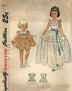 09134a424e78d Vintage Simplicity Sweet Child's Short & Long Dress Sewing Pattern! #3435,  sz. 3 #Simplicity