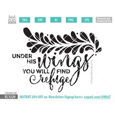 Under his wings you will find refuge svg