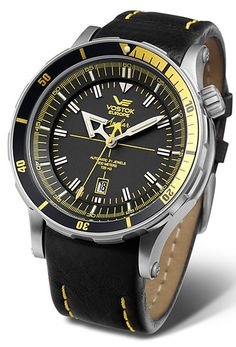 Vostok Europe Anchar Submarine Automatic Silver/Black Watch NH35A/5105143