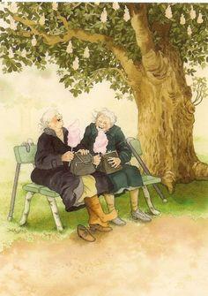 Korábban már írtam ezekről a bájos, idős hölgyekről, akik maradéktalanul élvezik az életet. Sajnos nincs sok a birtokomban, de mindig r...