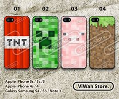 Minecraft Creeper iPhone 5 CaseiPhone 5s CaseiPhone by ViWahStore, $7.99