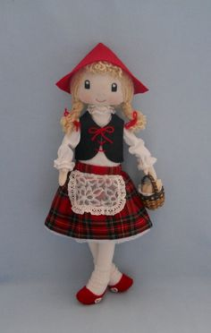 Little Red Riding Hood Doll by TinasDoll on Etsy