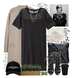 """""""I left myself in the alleyways"""" by yazzyf ❤ liked on Polyvore featuring N.Peal, H&M, Michael Kors, Manolo Blahnik, Balmain, Laura Ashley, Lancôme and Dot & Bo"""