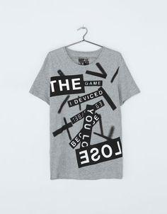 Bershka Netherlands -Shirt met tekstprint