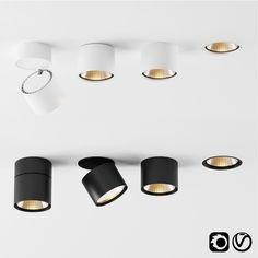 models: Spot light - Hoy by Artemide Interior Lighting, Home Lighting, Kitchen Lighting, Lighting Design, Downlights Kitchen, Ceiling Light Design, Ceiling Lights, Light Fittings, Light Fixtures
