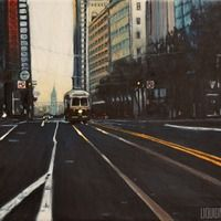 Doug Clarke.  He graduated at VCU in Richmond, Virginia with Honors, Magna Cum Laude.  Currently he is a practicing plein air painter, choosing his landscape subjects from train yards to old buildings and run down areas of Norfolk and Virginia Beach.