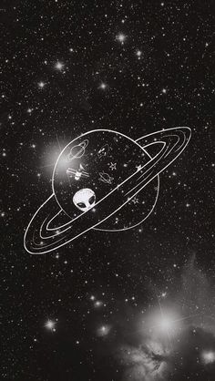 cute, doodle, drawing, sky, space, stars, tumblr