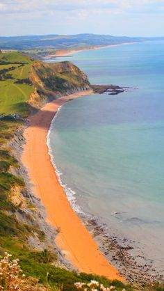 Golden Cap, Lyme Regis, Dorset, England. 19 of the best European beaches. Don't forget when traveling that electronic pickpockets are everywhere. Always stay protected with an Rfid Blocking travel wallet. https://igogeer.com for more information.