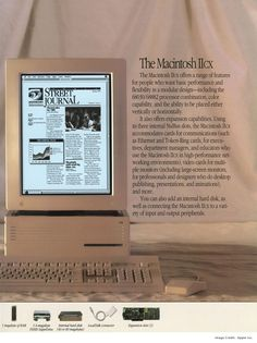 1989 - Macintosh IIcx - Český Mac Frog Design, Web Design, Pc Gadgets, Apple Computers, Interaction Design, Steve Jobs, Apple Products, Vintage Ads, Industrial Design