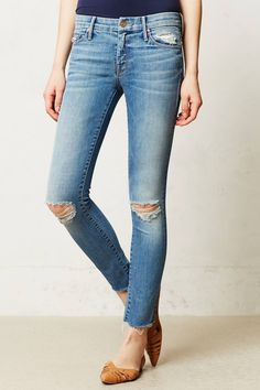 Ankle Fray Jeans - Anthro SPRING!!!