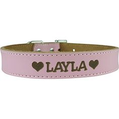 Personalized Dog Collar - Engraved Soft Leather in Small, Medium or Large Size, Pink or Red ID Collar No Pet Tags or Embroidered Names   Check it out-->  http://mypets.us/product/personalized-dog-collar-engraved-soft-leather-in-small-medium-or-large-size-pink-or-red-id-collar-no-pet-tags-or-embroidered-names/  #pet #food #bed #supplies