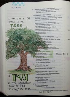 Psalm 52:8 Green Olive tree, by Paula-Kay Bourland Stamps by Art Impressions