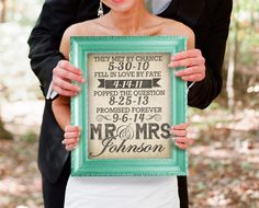 Must get this canvas! I'll take photos with it, use it as decoration and then hang it in our bedroom! Love the relationship time line! Custom Wedding Dates Art All your Relationship by DesignerCanvases, $12.00