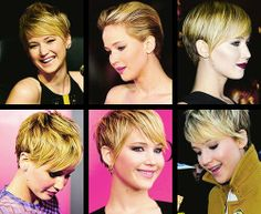 ) I adore her and her hair, so I'm definitely copying the style for my wedding Cut Her Hair, Hair Color And Cut, Haircut And Color, Pixie Hairstyles, Pixie Haircut, Cute Hairstyles, Short Haircuts, Jennifer Lawrence Short Hair, Jenifer Lawrence