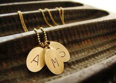 Personalized necklace Three geometric Initial by SoraDesignsBlack, $36.00