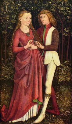 A Newly Married Couple ( circa 1470), tempera on wood by Schwäbischer Meister.    The Yorck Project: 10.000 Meisterwerke der Malerei. DVD-ROM, 2002