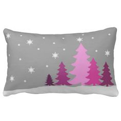 Green Christmastree lumbar pillow - Cosy Christmas decoration for the living room Cosy Christmas, Christmas Cushions, Outdoor Christmas, Simple Christmas, Christmas Decorations 2017, Custom Pillows, Lumbar Pillow, Cool Furniture, Snow