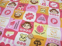 Peko Chan print Japanese Fabric by beautifulwork on Etsy, $14.98