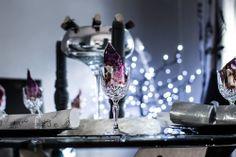 A festive dinner table.