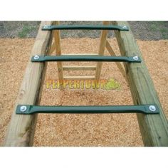 Build your own monkey bars with these easy to install powder coated monkey bar rungs. Backyard Gym, Backyard Obstacle Course, Backyard Playground, Backyard For Kids, Playground Ideas, Indoor Playhouse, Build A Playhouse, Outdoor Playhouses, Playhouse Kits