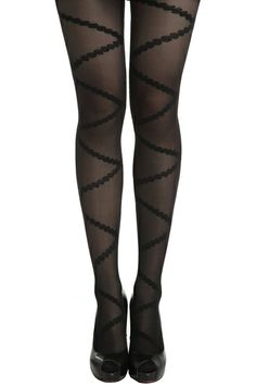 ROMWE | Lace Tied Belt Black Tights, The Latest Street Fashion
