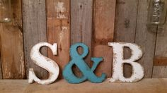 Rustic shabby chic 9.5 Letters CHOOSE your own by ThePinkToolBox