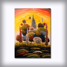 large art canvas painting original landscape wall art by mattsart