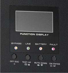 Es el frontal del modelo de sai para armarios rack LA-ON-6k-LCD de Lapara. Un aparto de protección de servidor en formato rack 19 pulgadas.