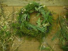 A completed wreath.  http://www.belhavenfruitfarm.co.uk/the-store.aspx