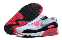online store 95050 4b05f Nike Womens Air Max 90 in White Cool Grey Black Red Trainers UK Cheap  Outlet Calzado